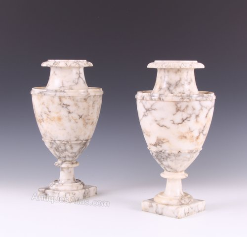Antiques Atlas Early 19thc Grand Tour Italian Carved Alabaster Vases