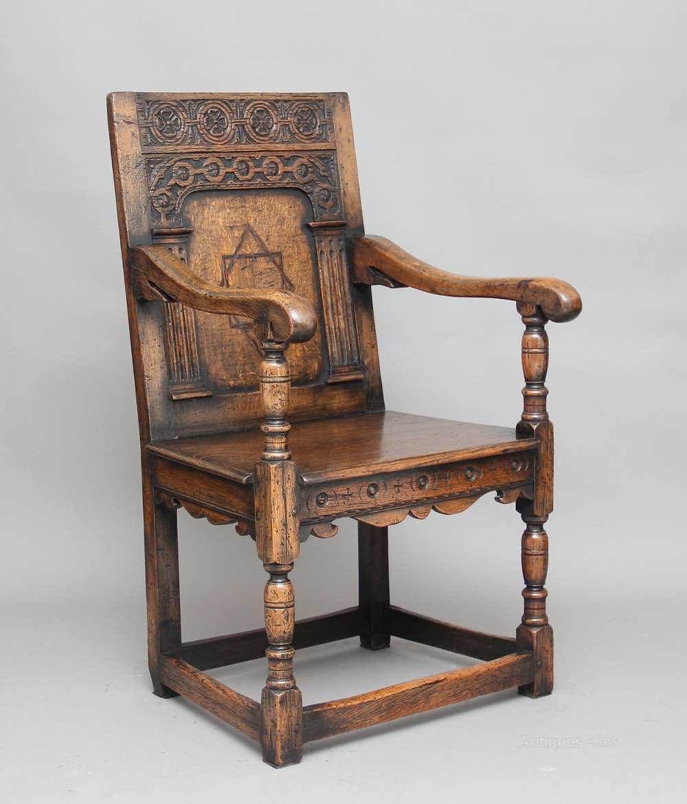 Early 20th Century Oak Wainscot Chair ...