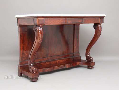 Marble Top Mahogany Console Table Antiques Atlas