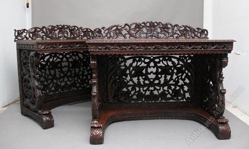 Outstanding Pair Of 19Th Century Carved Console Tables Andrewgaddart Wooden Chair Designs For Living Room Andrewgaddartcom