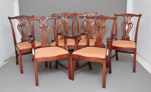 04dea6798fbcb Antiques Atlas - Set Of 8 Chippendale Style Dining Chairs