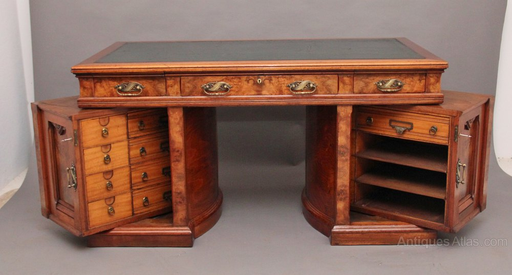 Antique Pedestal Desk - Antique Pedestal Desk Antique Furniture
