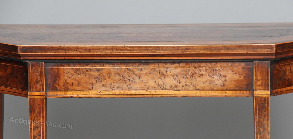 Yew Wood Card Table Antique Card Tables Yew Satinwood Games %%alt5%% ...