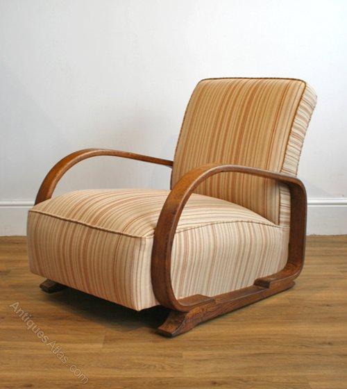 1930s Oak Armchair By Heal's