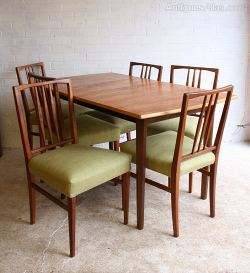 A 1950s Dining Table And Chairs By Gordon