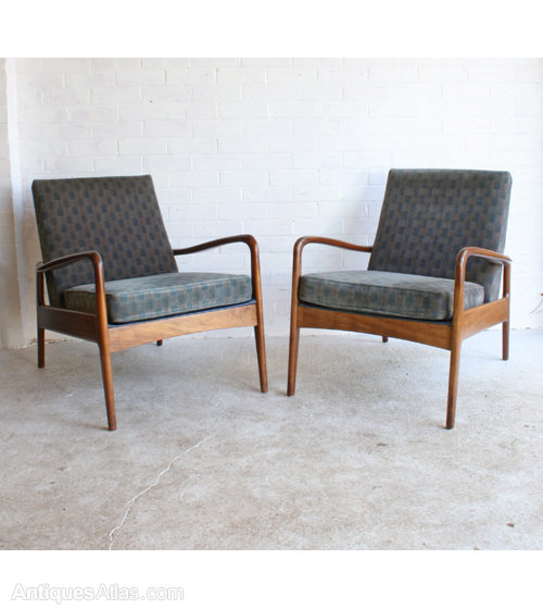 antiques atlas a pair of mid century modern armchairs
