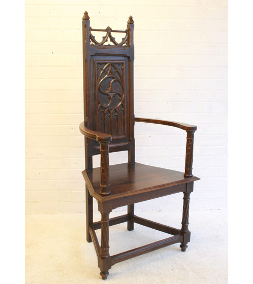 An Arts & Crafts Carved Gothic Chair Antique ... - An Arts & Crafts Carved Gothic Chair - Antiques Atlas