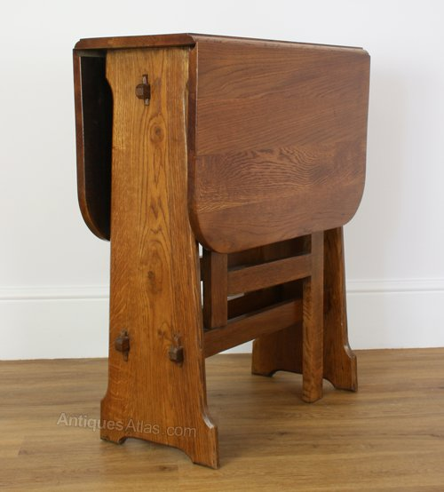An Arts Crafts Style Drop Leaf Table