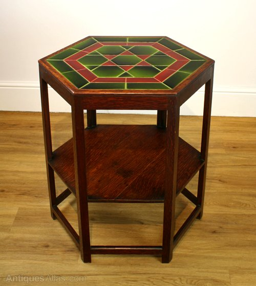 Arts U0026 Crafts Tile Top Table By Shapland U0026 Petter ...