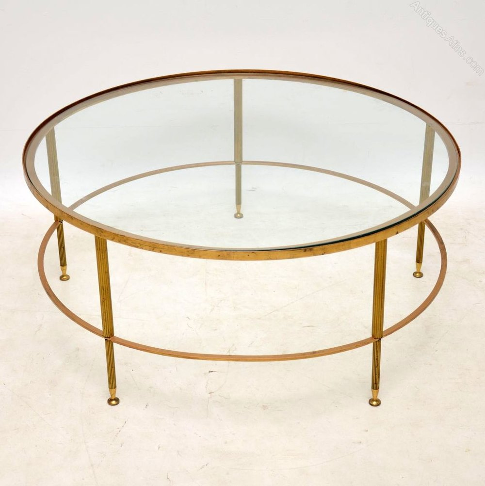 brass and glass coffee table. 1960\u0027s French Brass \u0026 Glass Coffee Table And