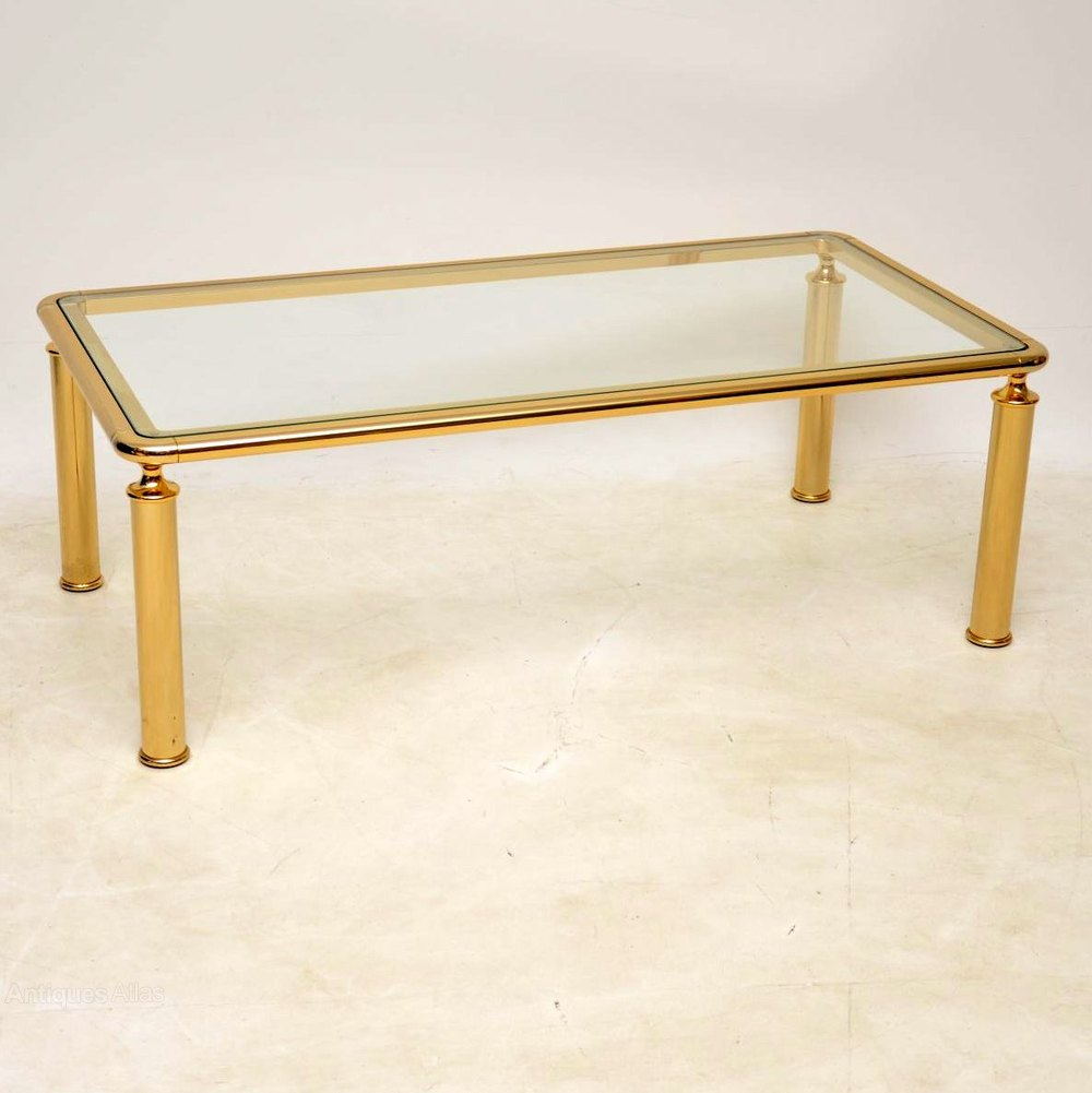 Antiques Atlas 1970 S Vintage Brass Glass Coffee Table