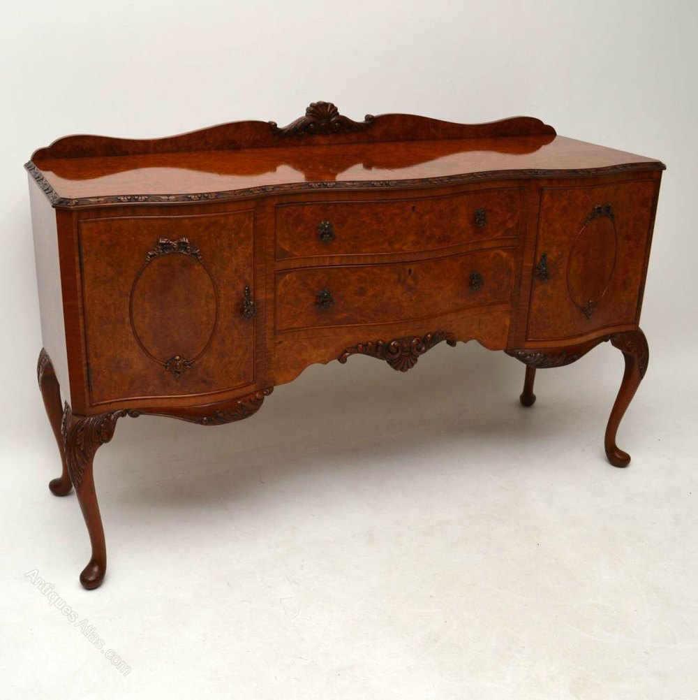 antiques atlas antique burr walnut queen anne style sideboard. Black Bedroom Furniture Sets. Home Design Ideas