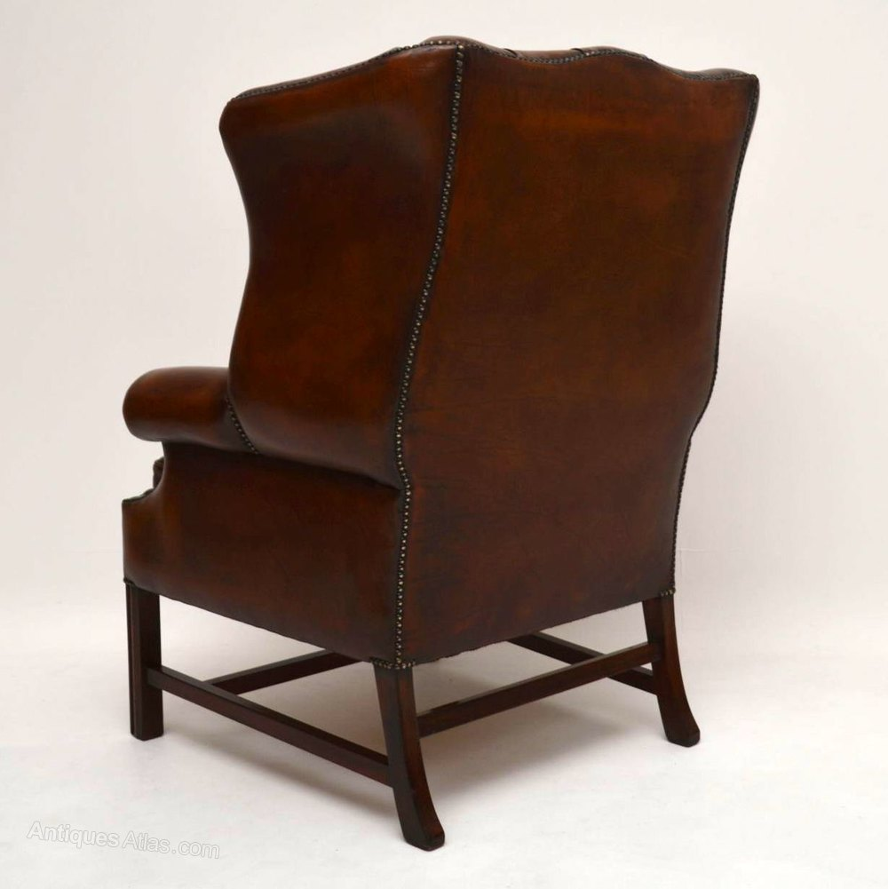 Antiques Atlas Antique Deep Buttoned Leather Wing Back