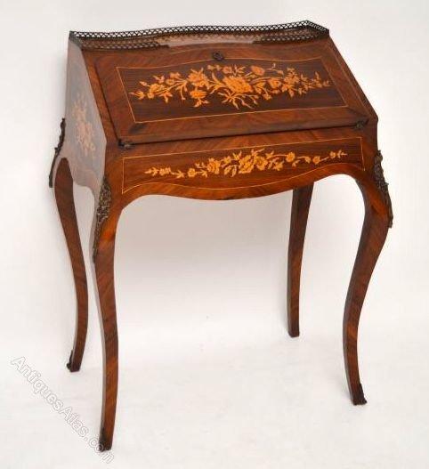Antique french bureau de dame kingwood rosewood for Bureau in french