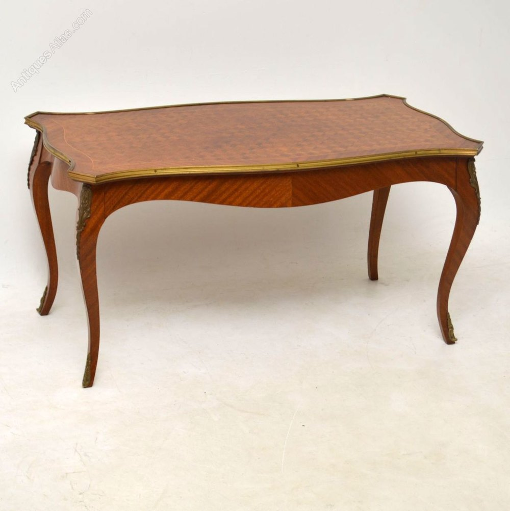 Antique french inlaid parquetry coffee table antiques atlas Coffee table antique