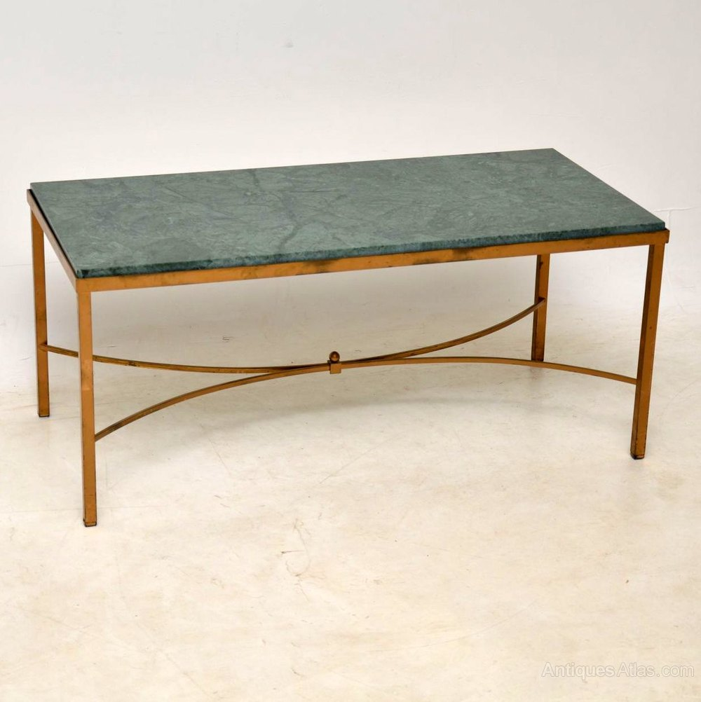 Marble Top Brass Coffee Table.Antiques Atlas Antique French Marble Brass Coffee Table