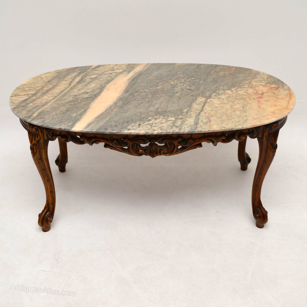 antiques atlas - antique french style marble top coffee table