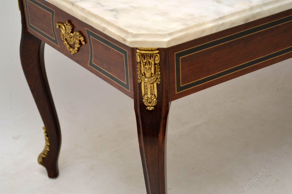 Antique Inlaid Marble Table : Antiques atlas antique inlaid rosewood marble top coffee