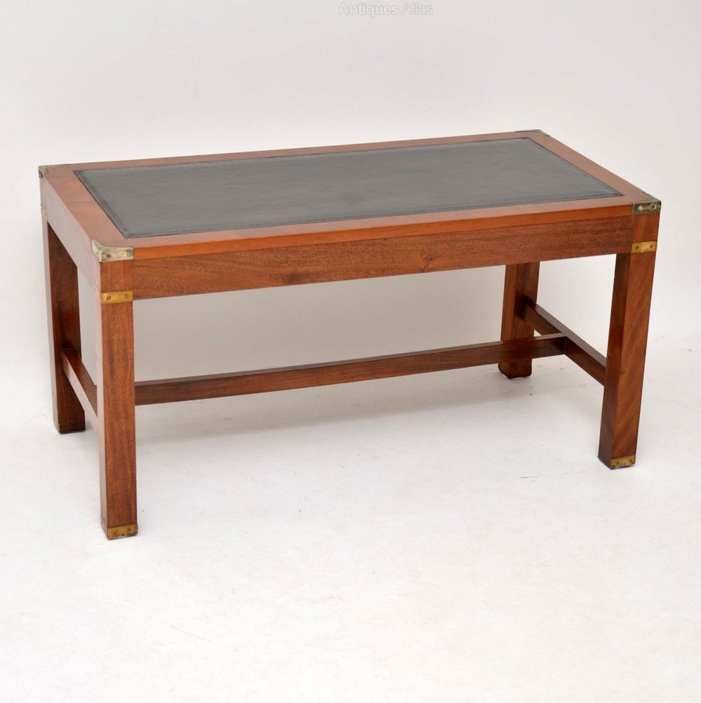 1950 Mahogany Leather Top Coffee Table