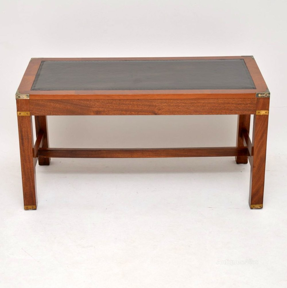 - Antiques Atlas - Antique Mahogany Leather Top Coffee Table