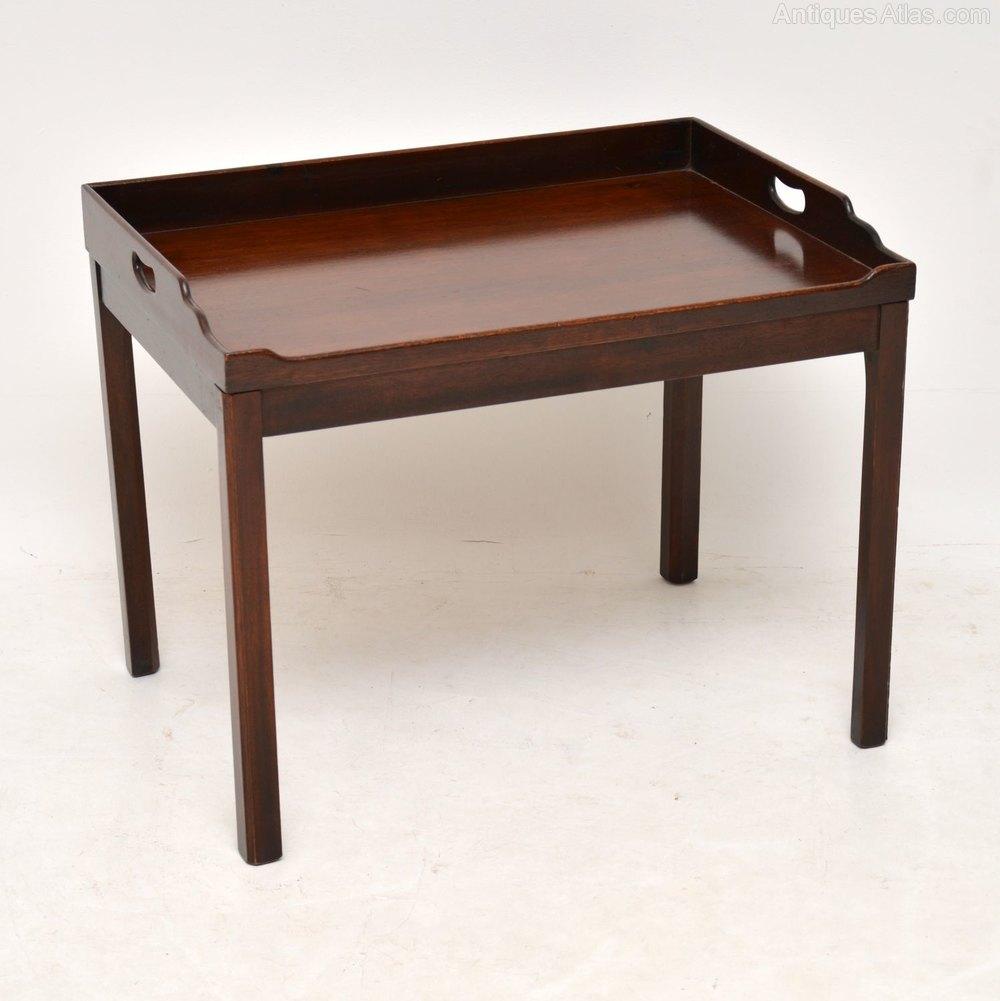 Antique Mahogany Tray Top Coffee Table Antiques Atlas