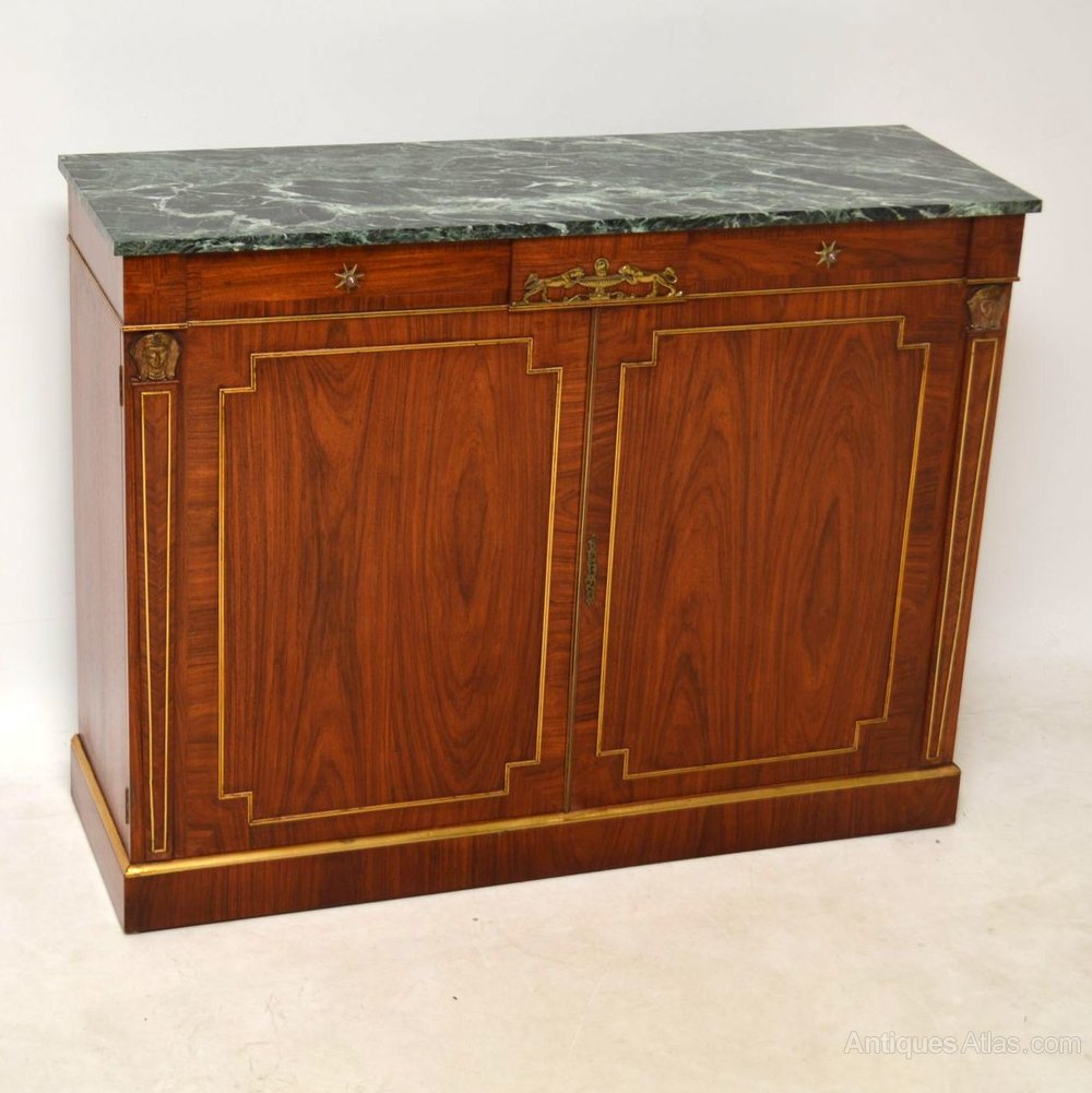 Antique Rosewood Marble Top Sideboard Cabinet Antiques Atlas