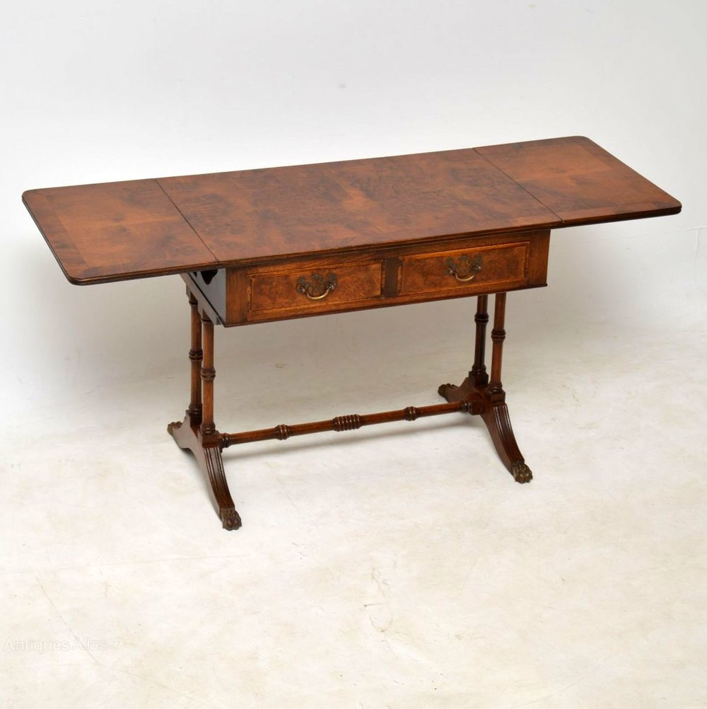 Antique Walnut Drop Leaf Coffee Table Antiques Atlas