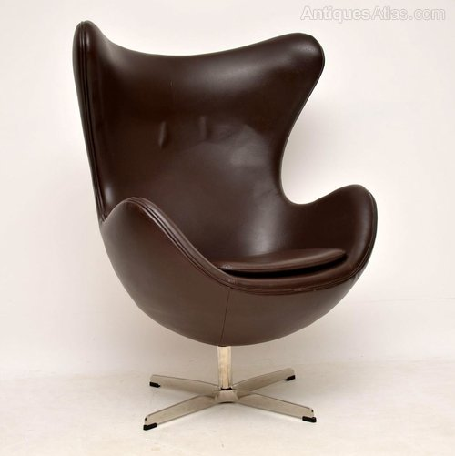 Cool Antiques Atlas Arne Jacobsen Leather Swivel Egg Chair Pabps2019 Chair Design Images Pabps2019Com