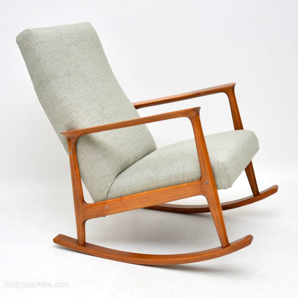 Incredible Danish Cherry Wood Vintage Rocking Chair Gmtry Best Dining Table And Chair Ideas Images Gmtryco
