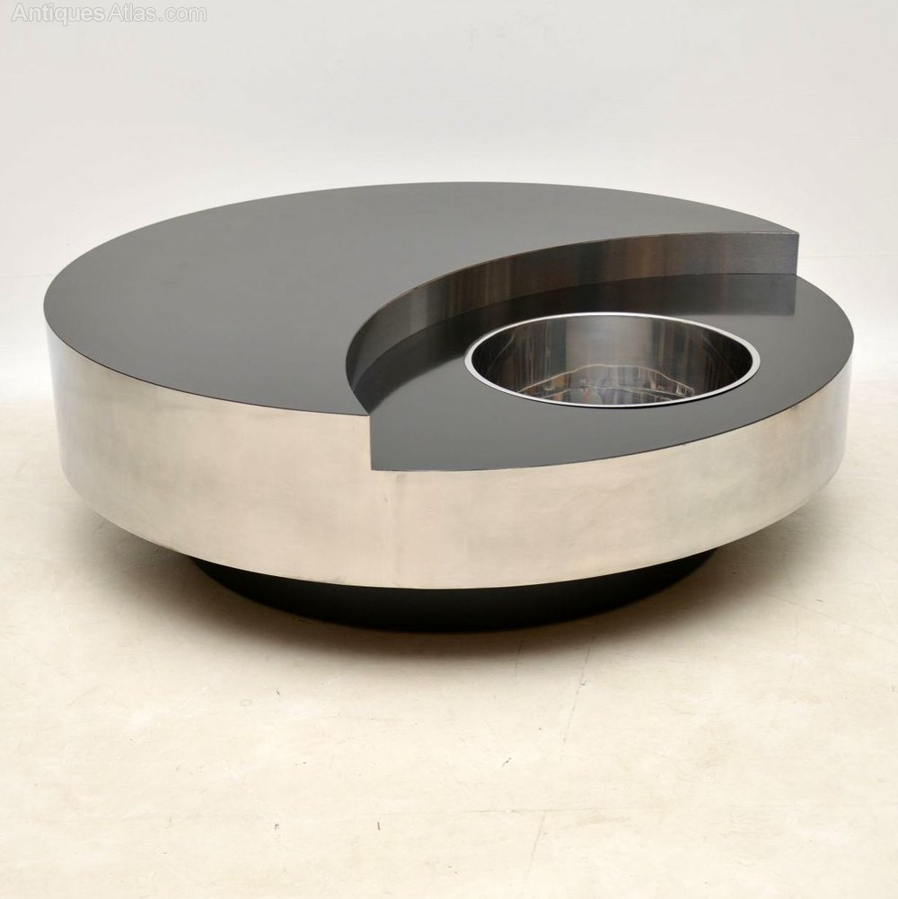 Willy Rizzo Coffee Table.Italian Yin Yang Coffee Table By Willy Rizzo
