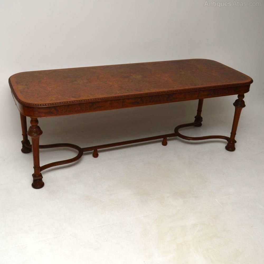 Large antique burr walnut dining table antiques atlas - Antiques dining tables ...