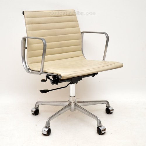 Leather Desk Chair By Charles Eames