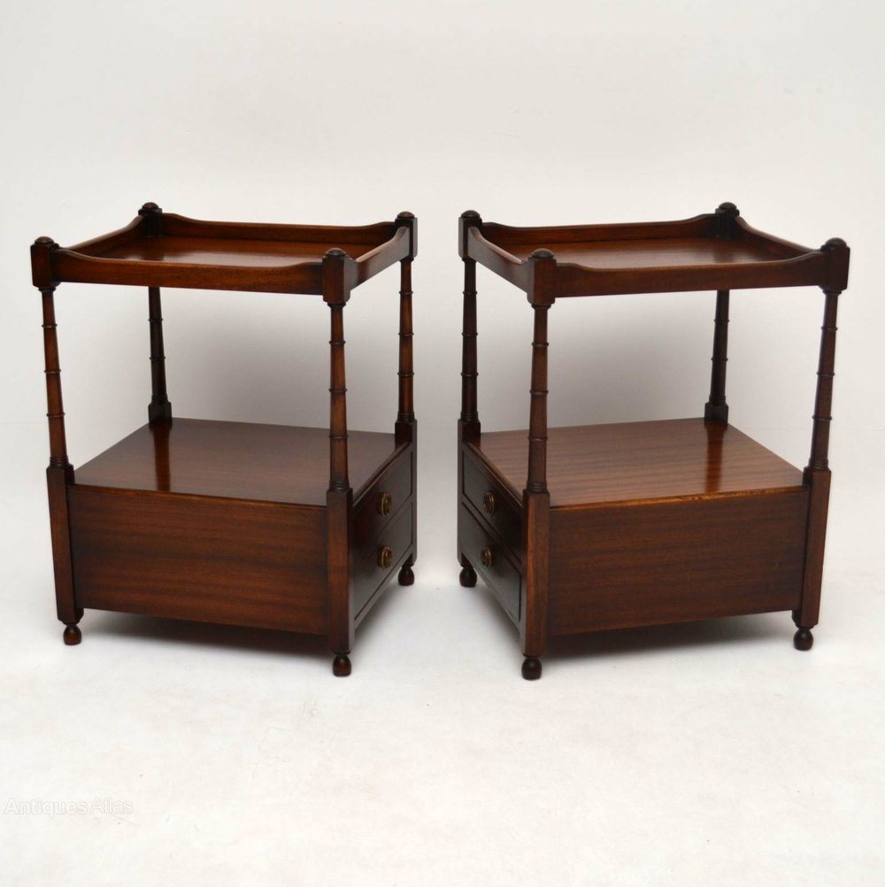Antiques atlas pair of antique georgian style mahogany lamp table lamp tables alt5 geotapseo Gallery