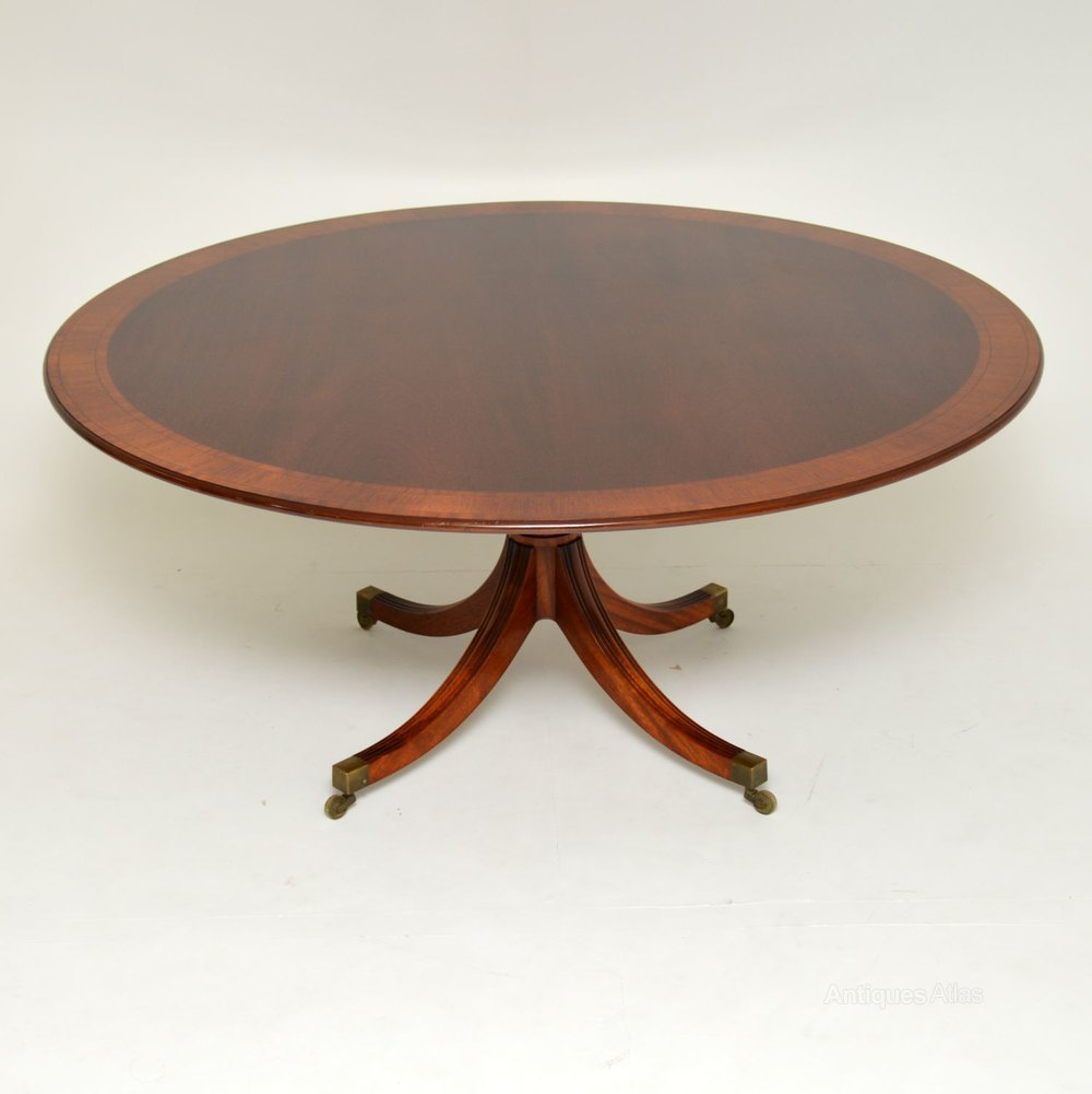 Antiques Atlas Regency Style Inlaid Mahogany Tillman Dining Table