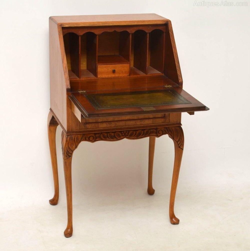 Small Antique Burr Maple Writing Bureau Antiques Atlas