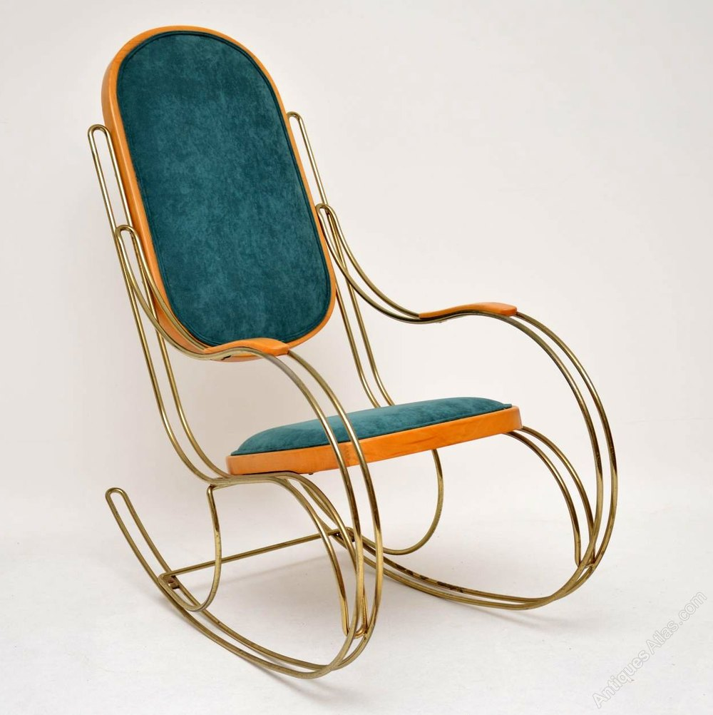 Superb Antiques Atlas Vintage Italian Brass Rocking Chair Gmtry Best Dining Table And Chair Ideas Images Gmtryco