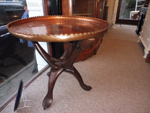 Antiques Atlas African Tribal Copper Tray Top Folding Table