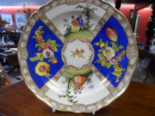 Antique Meissen Quatrefoil Cabinet Plate & Antiques Atlas - Antique Meissen Quatrefoil Cabinet Plate
