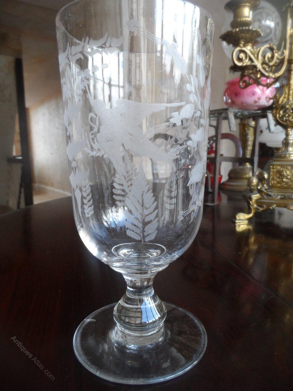 Antiques Atlas Antique Victorian Celery Glass Acid