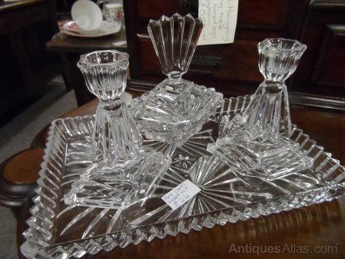 Antiques Atlas - Art Deco Dressing Table Set - Glass