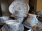 Blue and White Chintz Minton T