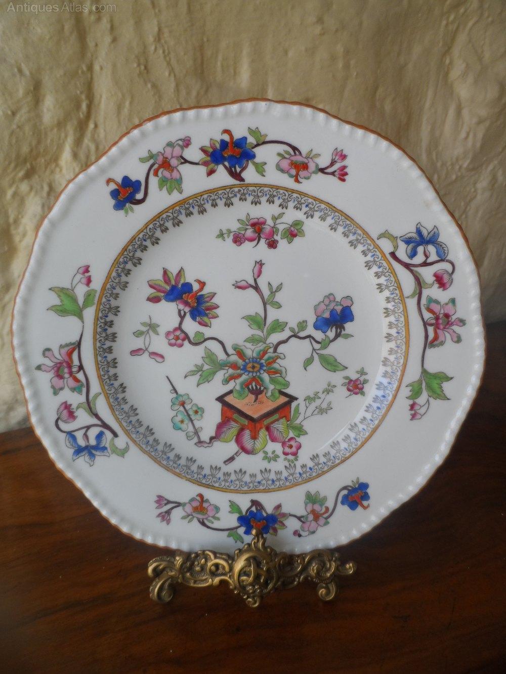Antiques Atlas Coalport Handpainted Flower Pot Cabinet Plate