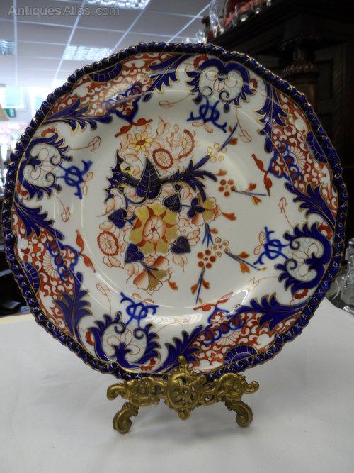Super Bloor Period Royal Crown Derby Imari Plate & Antiques Atlas - Super Bloor Period Royal Crown Derby Imari Plate