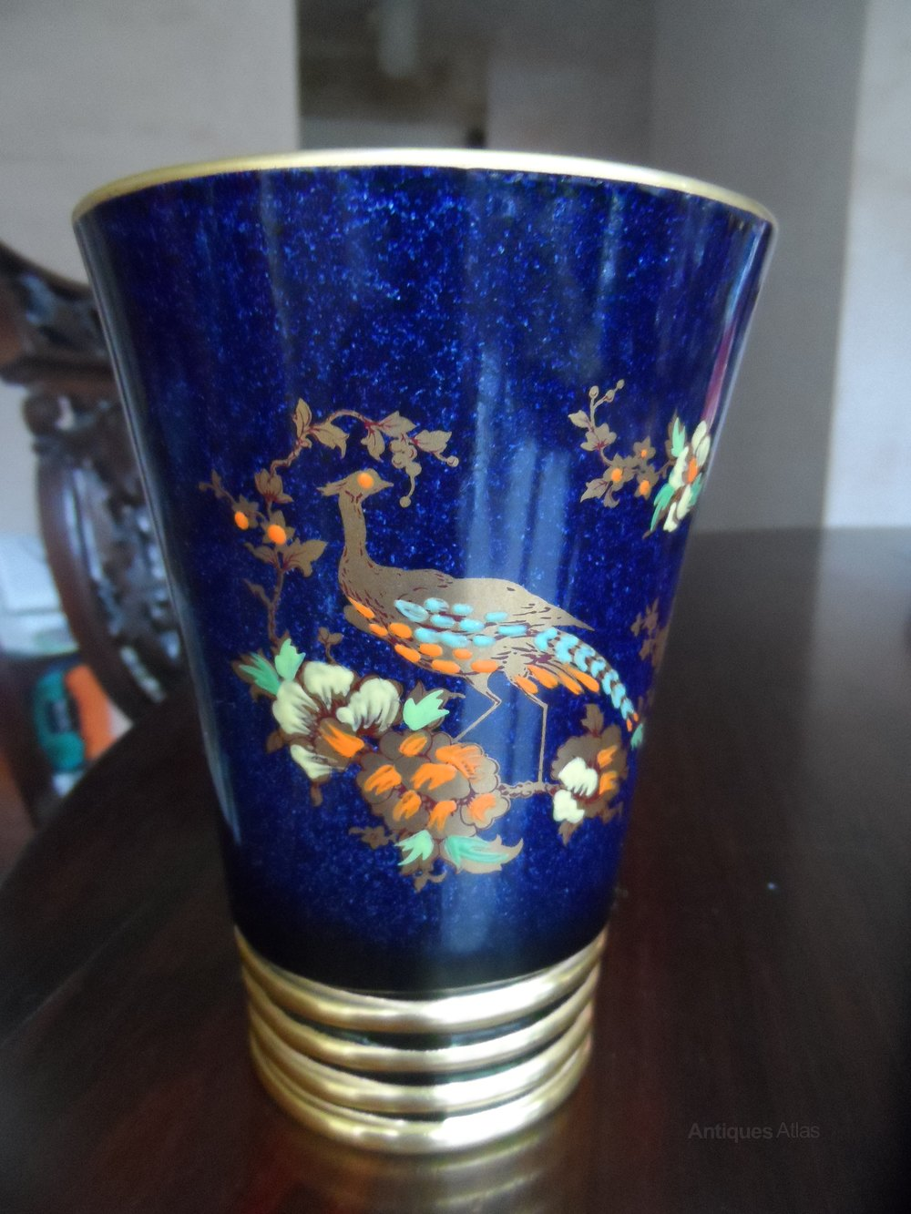 Antiques Atlas Super Carlton Ware Blue Bird Of Paradise Vase
