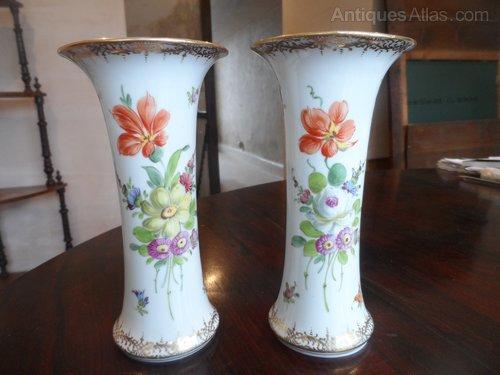 Antiques Atlas Super Pair Of Dresden Porcelain Vases