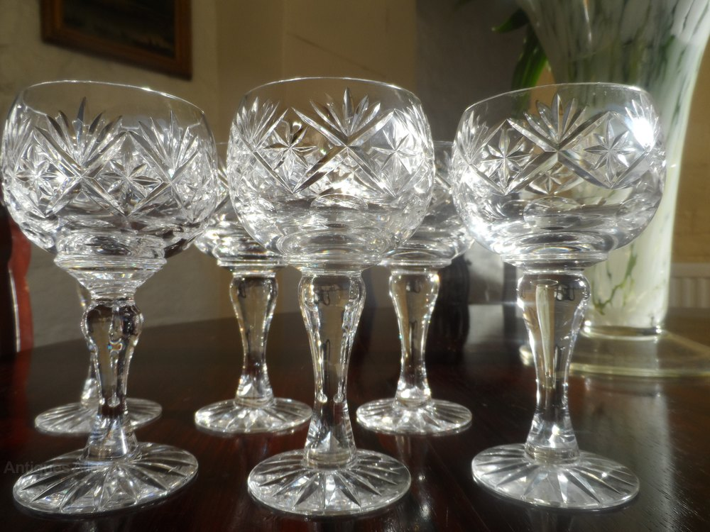 Antiques Atlas Superb Set Of Large Quality Crystal Wine