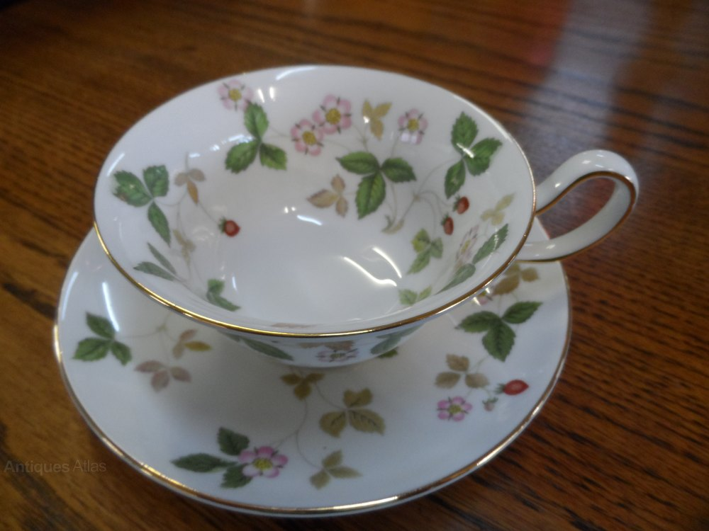 Wedgwood Wild Strawberry Cup And Saucer