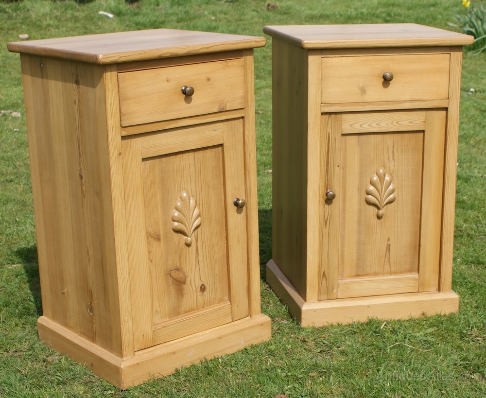 A Matching Pair Of Pine Bedside Cabinets