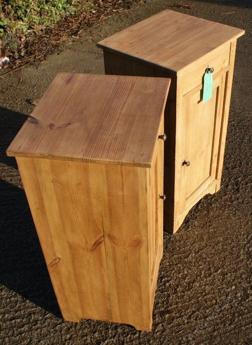 Photos A Pair Of Dutch Pine Bedside Cabinets