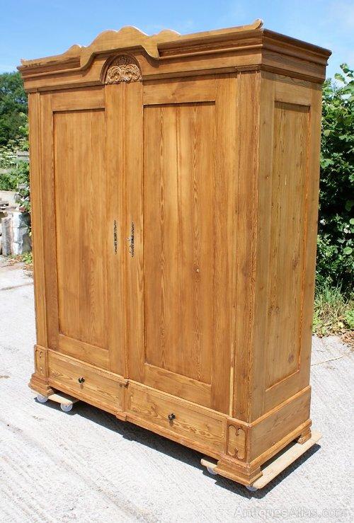 large german pine armoire wardrobe antiques atlas. Black Bedroom Furniture Sets. Home Design Ideas